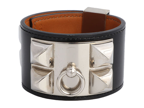 Hermès Black Box Calfskin Collier de Chien CDC Bracelet