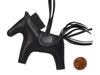 Hermès So Black Lambskin Grigri Rodeo Horse Bag Charm PM