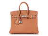 Hermès Gold and Gris Tourterelle Taurillon Novillo Verso Birkin 25