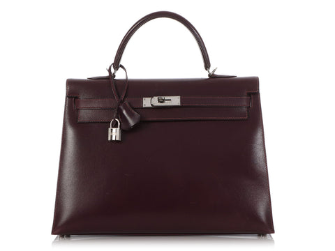 Hermès Raisin Box Calfskin Kelly 35