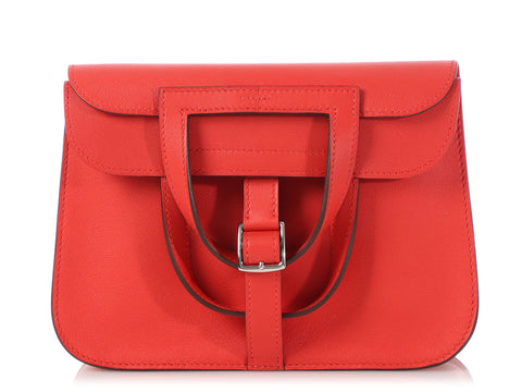 Hermès Mini Rouge Tomate Swift Halzan 22