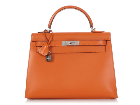 Hermès Pumpkin Box Calfskin Kelly 32