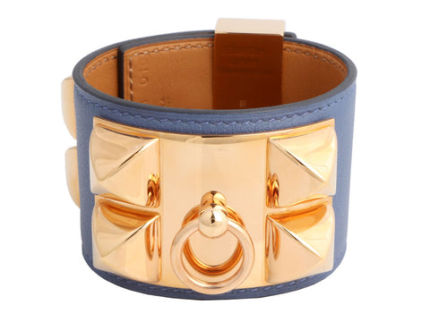 Hermès Blue Brighton Swift Collier de Chien CDC Bracelet