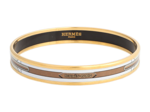 Hermès Narrow Belts Enamel Bangle Bracelet 70