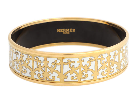 Hermès Wide Balcons du Guadalquivir Bangle Bracelet 70