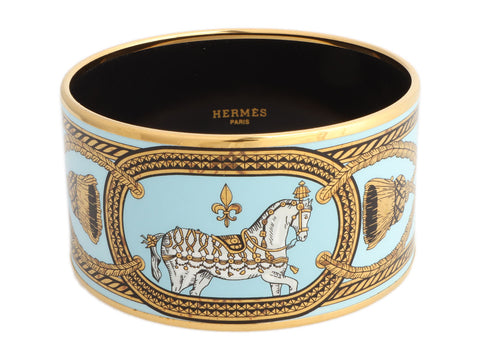 Hermès Extra Wide Grand Apparat Enamel Bangle 70