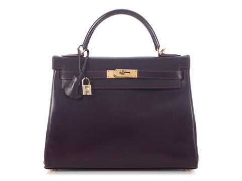 Hermès Raisin Box Calfskin Kelly 32
