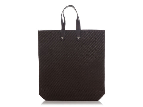 Hermès Brown Woven Leather and Polyester Ahmedabad Tote Bag