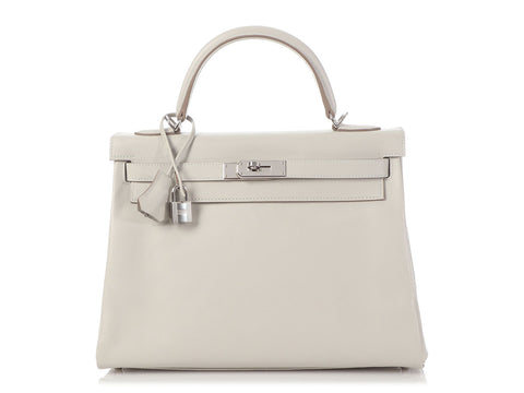 Hermès Gris Perle Evercolor Kelly 32