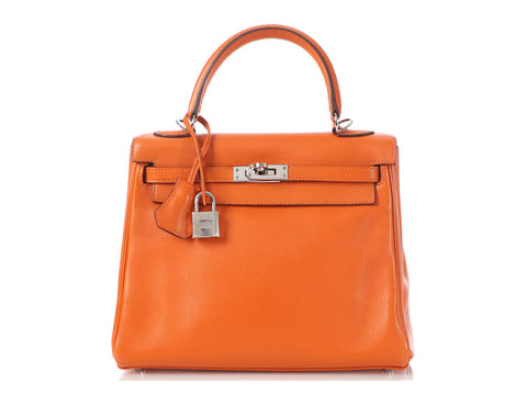 Hermès Orange Swift Kelly 25