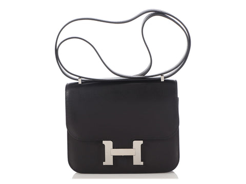 Hermès Mini Black Evercalf Constance 18