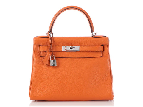Hermès Orange Clémence Kelly 28
