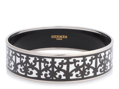 Hermès Wide Balcons du Guadalquivir Enamel Bangle 70