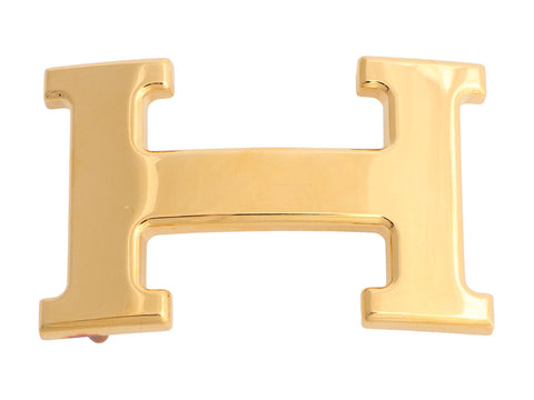 Hermès Gold H Belt Buckle 32cm