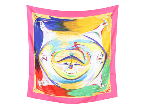 Hermès Smiles in Third Millenary Silk Scarf 90cm