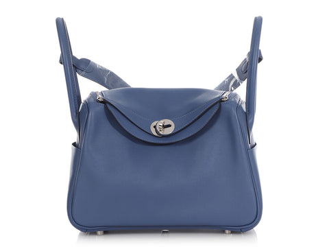 Hermès Blue Brighton Swift Lindy Tressage 26