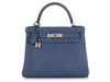 Hermès Blue Brighton and Capucine Evercolor Kelly Verso 28