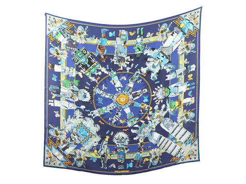 Hermès Kachinas Wash Silk Scarf 90cm