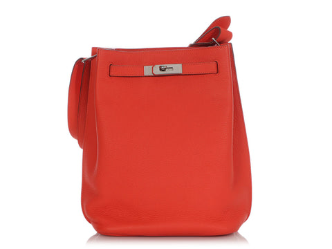 Hermès Capucine Togo So Kelly Hobo 22