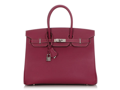 Hermès Limited Edition Tosca and Rose Tyrien Epsom Candy Birkin 35