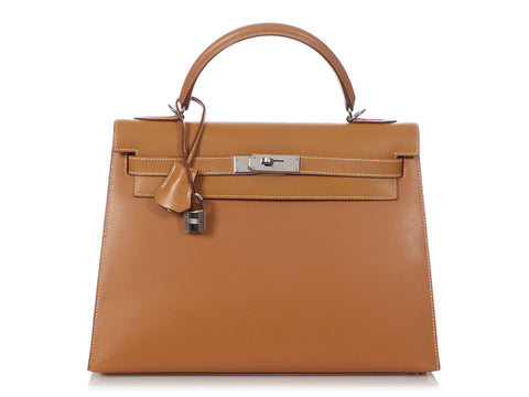Hermès Vache Naturel Kelly 32