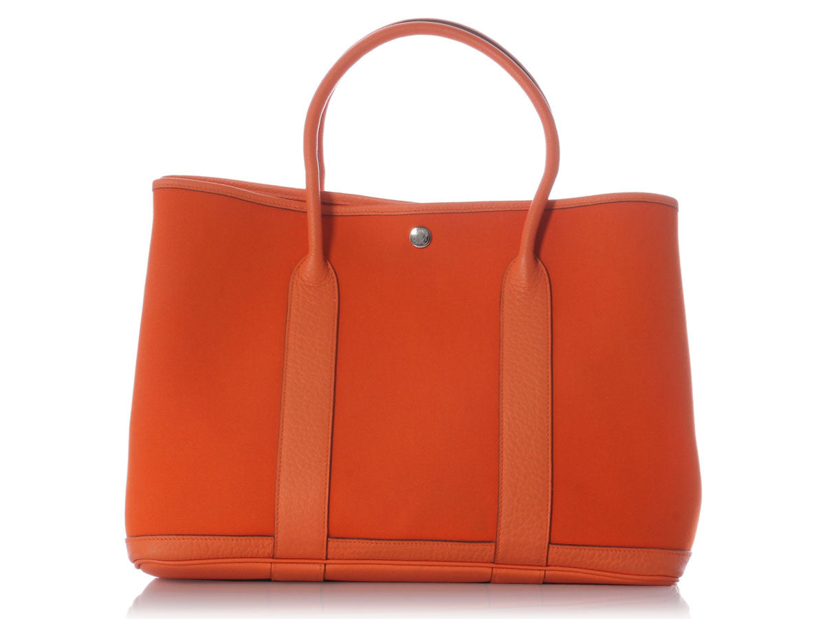 Hermès Orange Canvas Garden Party 36