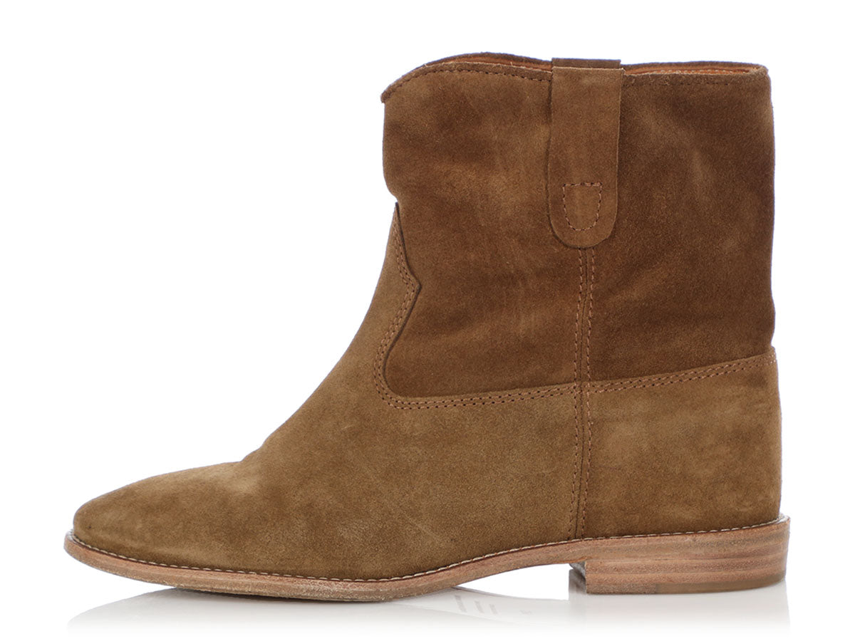 Isabel Marant Camel Suede Crisi Ankle Boots