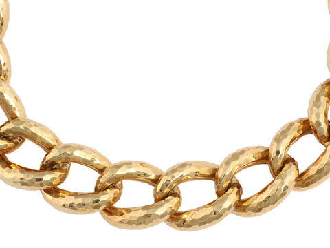 Henry Dunay 18K Yellow Gold Hammered Choker