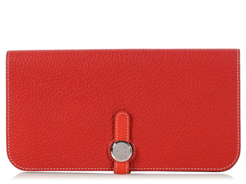 Hermès Geranium and Capucine Dogon Wallet