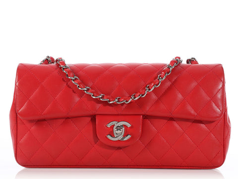 Chanel Red East/West Flap