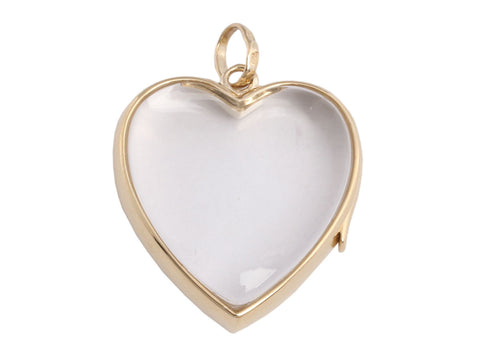 Loquet London Large 14K Yellow Gold Heart Locket