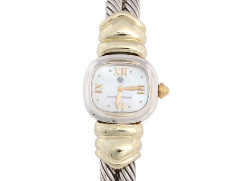 David Yurman Two Tone Cable Watch