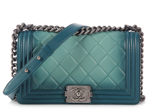Chanel Small Green Ombré Boy Bag
