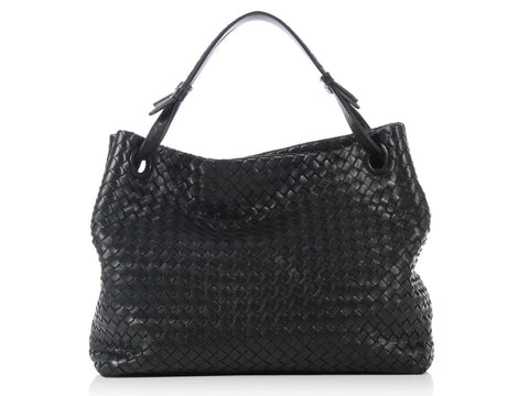 Bottega Veneta Black Bella Tote