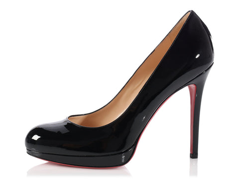 Louboutin Black Patent Simple 120 Pumps