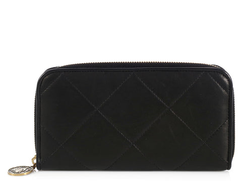 Lanvin Black Amelia Zip Wallet