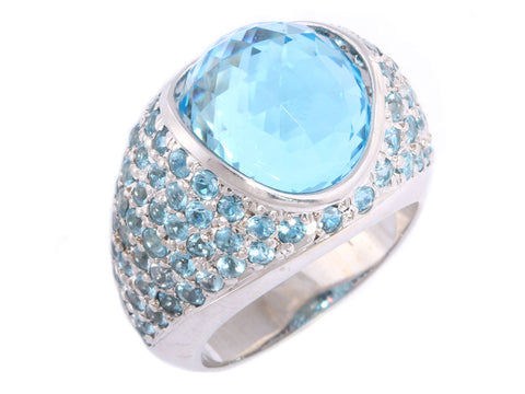 Blue Topaz Dinner Ring