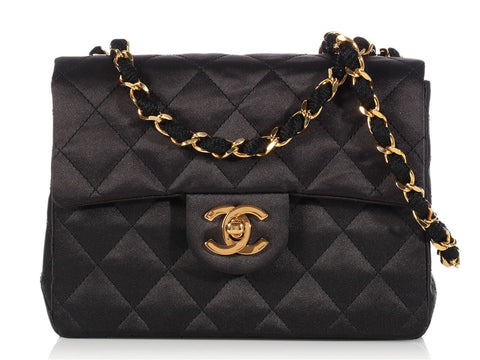 Chanel Black Satin Mini Classic