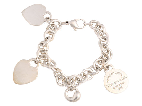 Tiffany & Co. Sterling Charm Bracelet