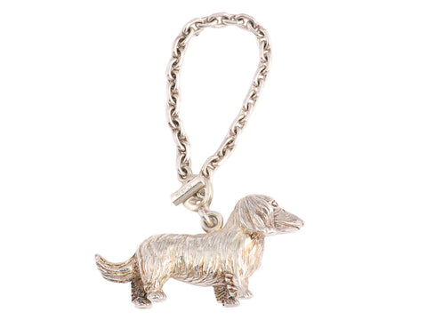 Hermès Dachshund Key Chain/Bag Charm