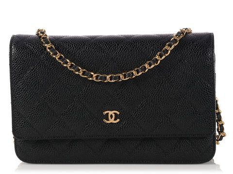 Chanel Black Wallet on a Chain WOC