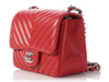 Chanel Mini Red Chevron Classic