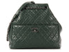 Chanel Dark Green Timeless Classic Drawstring Bag