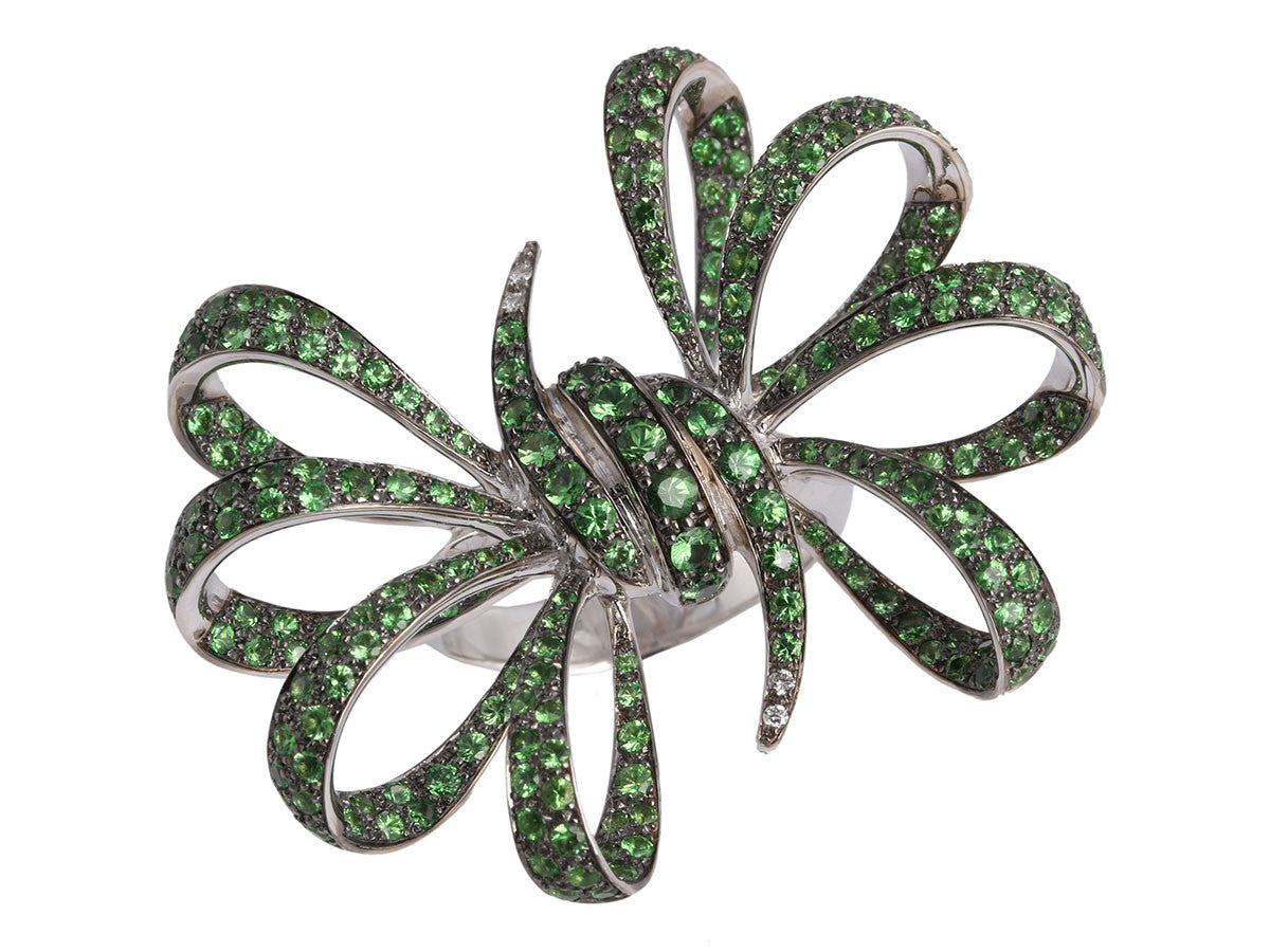 Stephen Webster Tsavorite Bow Ring