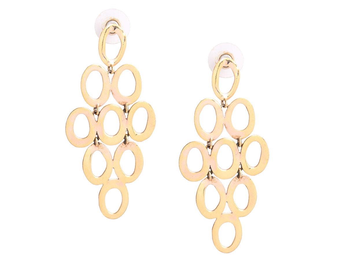 Ippolita Rose Gold Open Cascade Earrings