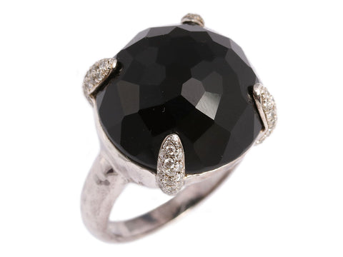 Ippolita Onyx and Diamond Lollipop Ring