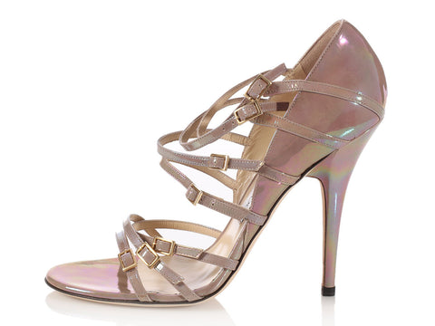 Jimmy Choo Iridescent Strappy Heels