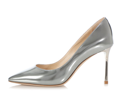 Jimmy Choo Liquid Mirror Romy Pumps
