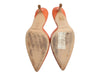 Jimmy Choo Orange Leather Slides