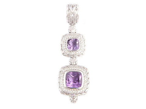John Hardy Amethyst and Diamonds Batu Sari Pendant